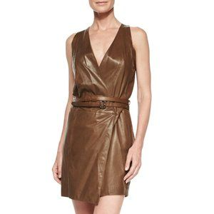 Kaufmanfranco Parachute Leather Dress in Brown